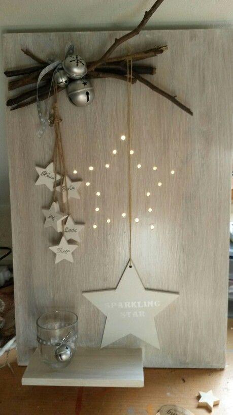 Kerstbord, gemaakt door Mineke Nieuwenhuis: