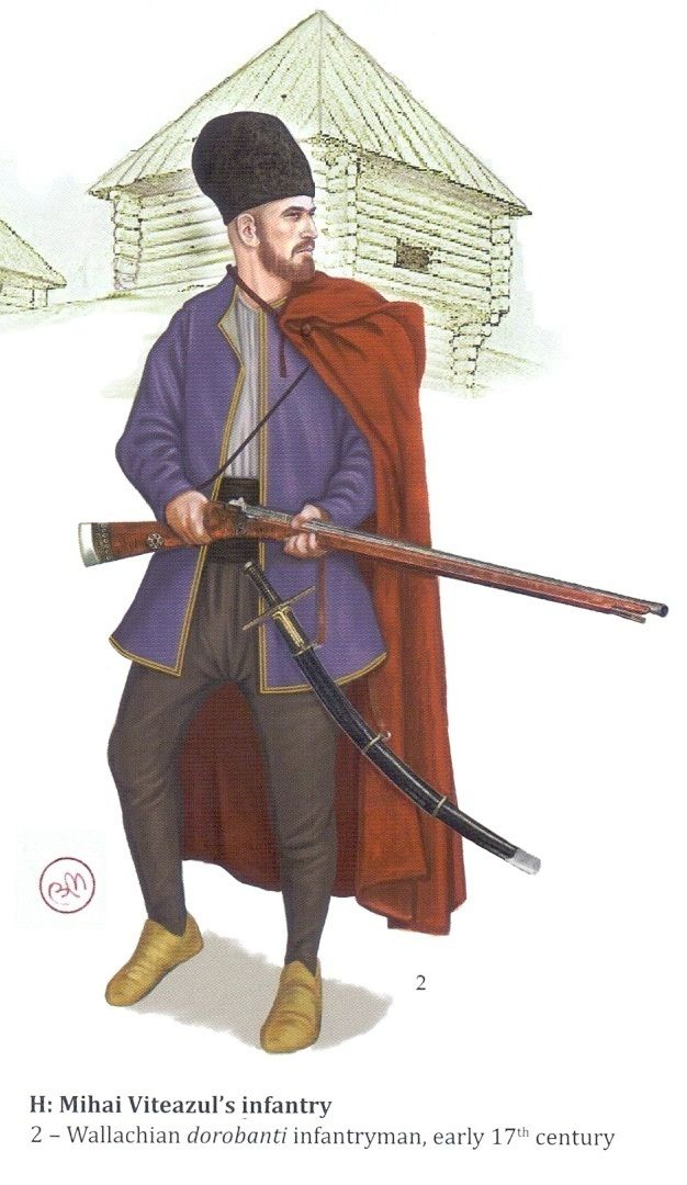 Wallachian dorobanti infantryman, early 17th century