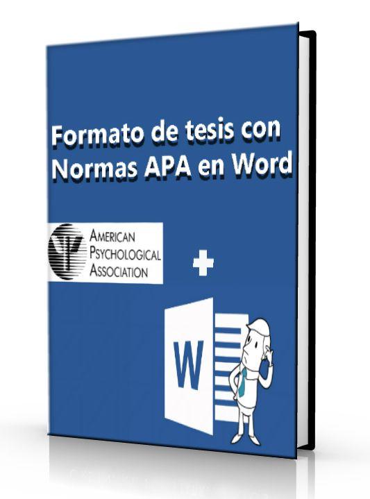 Formato de tesis con normas APA en word - DOC  #APA #microsoftWord #LibreArchivo   http://www.librearchivo.tk/2016/07/formato-de-tesis-con-normas-apa-en-word-pdf.html
