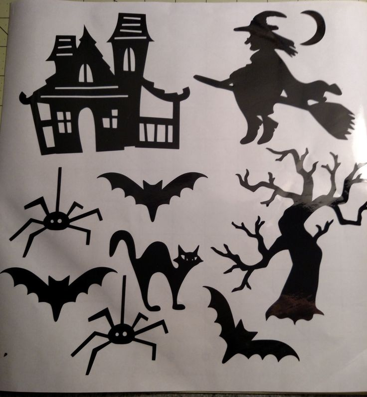 Halloween Window Clings - 12 x 12 sheet with 9 images by TwinklesCraftShop on Etsy