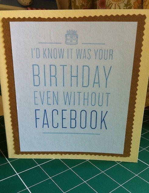 DIY Facebook Birthday Card. The Make Box