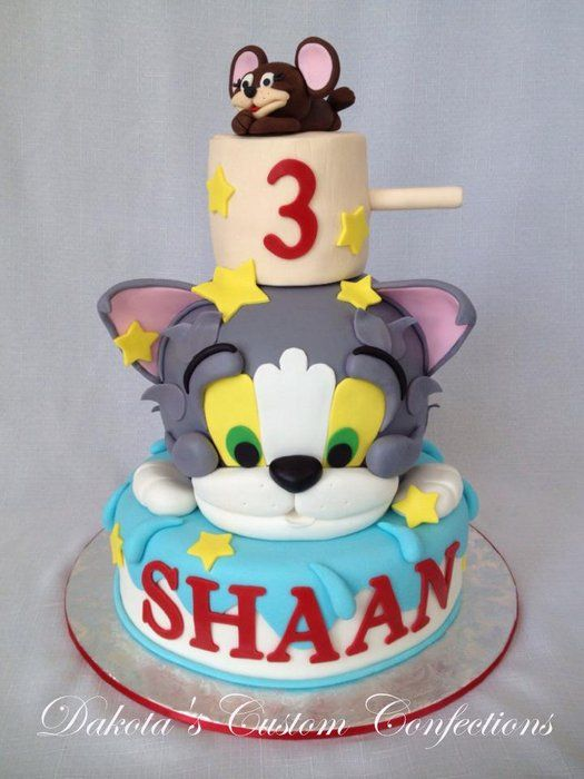 Tom And Jerry Edible Cake Image