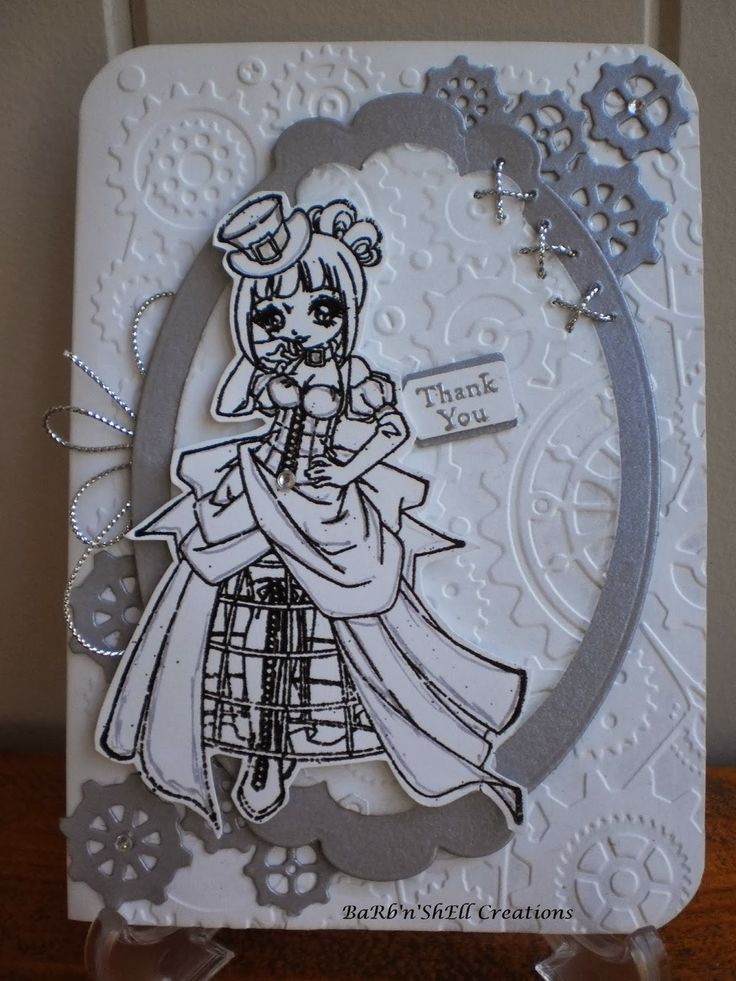 BaRb'n'ShEllcreationsMake It Crafty - Steampunk - Annabelle - Bridesmaid Thank-You Card - made by Shell