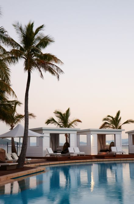 Poolside at the One&Only Hayman Island, Great Barrier Reef, Australia.