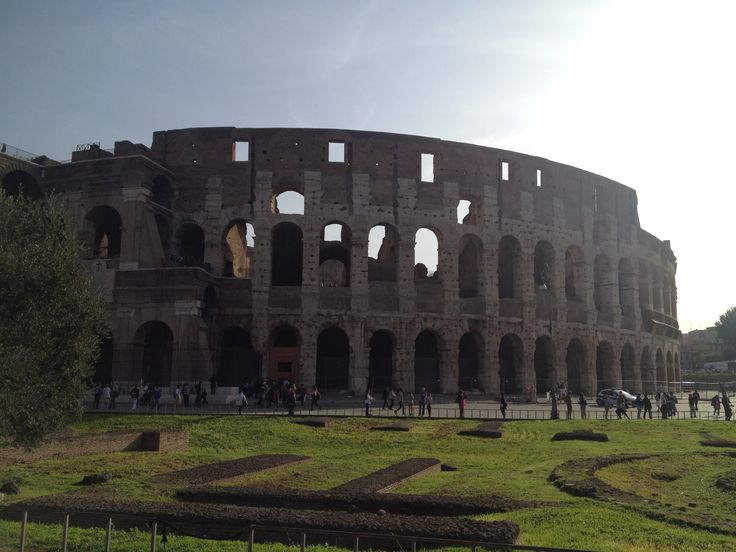 Colosseum is an oval amphitheater in Rome. Built of concrete and sand, it is situated just east of Roman forum.