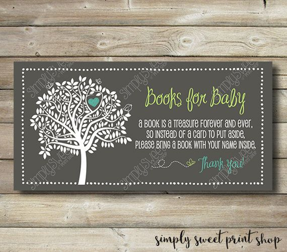 Baby Shower Bring A Book Instead Of A Card by SimplySweetPrintShop