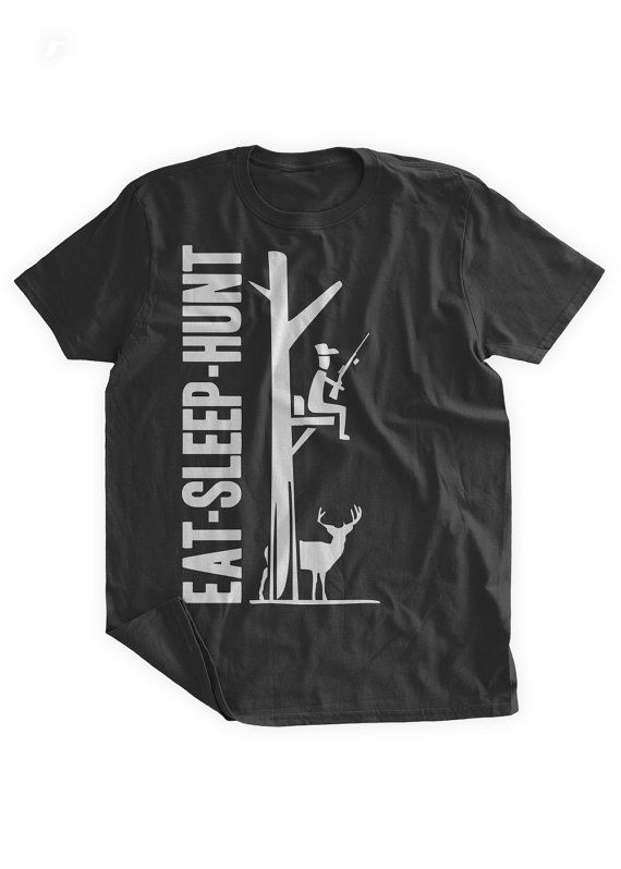 Eat Sleep Hunt T-shirt Rifle Tree Camp Buck Gun Hunter Hunting T-shirt Gifts for Dad Father's Day Family Mens Ladies Womens Kids T-shirt