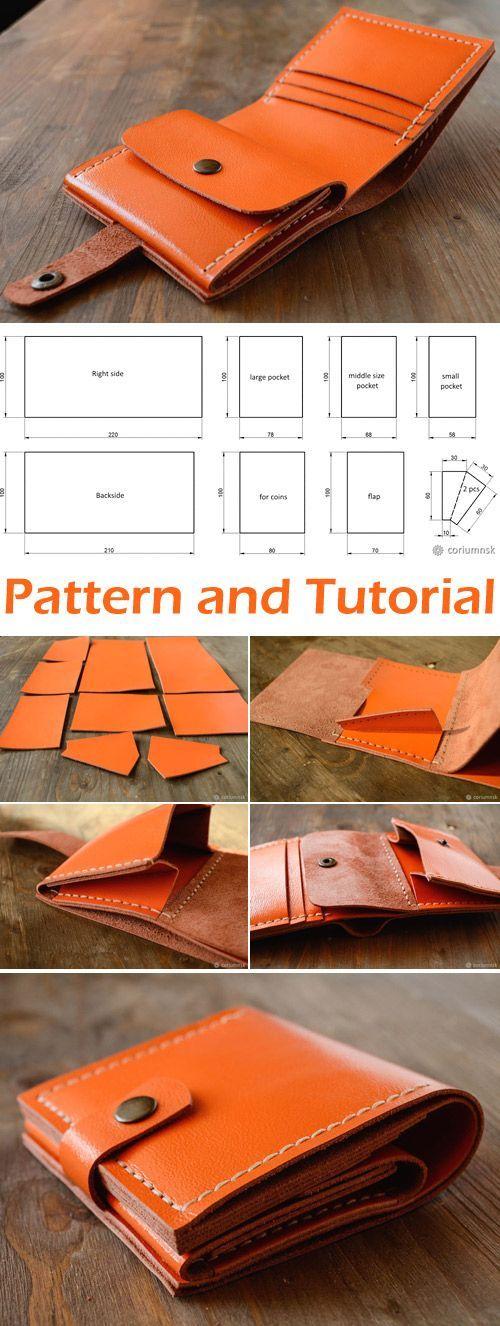 Wie man aus echtem Leder eine Geldbörse macht. DIY Tutorial www.handmadiya.co