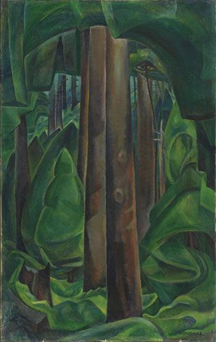 """Inside a Forest,"" Emily Carr, 1929 - 1930, oil, Art Gallery of Ontario."
