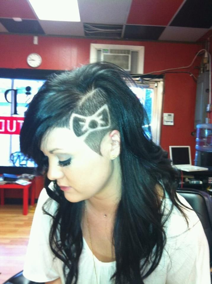 side hair bow designs with long hair