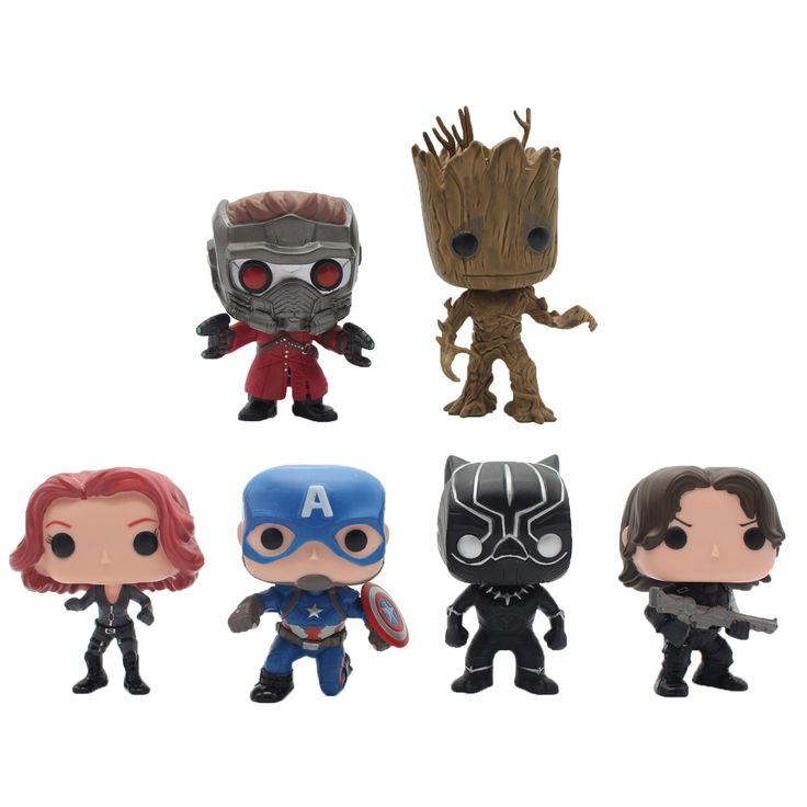 Funko POP Groot Guardians of the Galaxy Avengers Marvel's Captain America Civil War Black Widow Panther Winter Soldier Vinyl