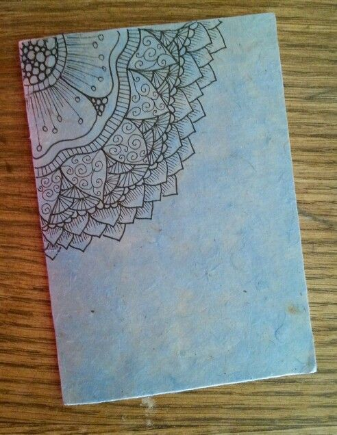 Diy Notebook In Rice Paper Zentangle Design A R T