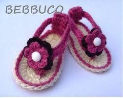 Resultado de imagen para zapatos de bebes tejidos