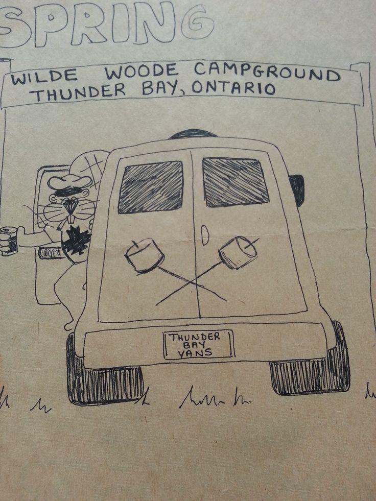 1980's Flyer/T-shirt design for Thunder Bay Vans