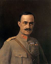 """Nikolaos Plastiras - was a Greek general and politician, who served thrice as Prime Minister of Greece. A distinguished soldier and known for his personal bravery, he was known as """"The Black Rider"""" during the Greco-Turkish War of 1919-1922."""