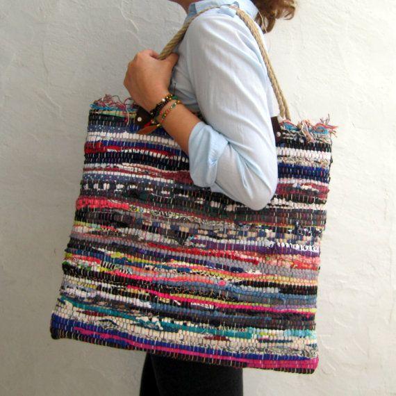 Beach Boho Bag. Extra Large Tote Bag. Boho Chic Style by maslinda
