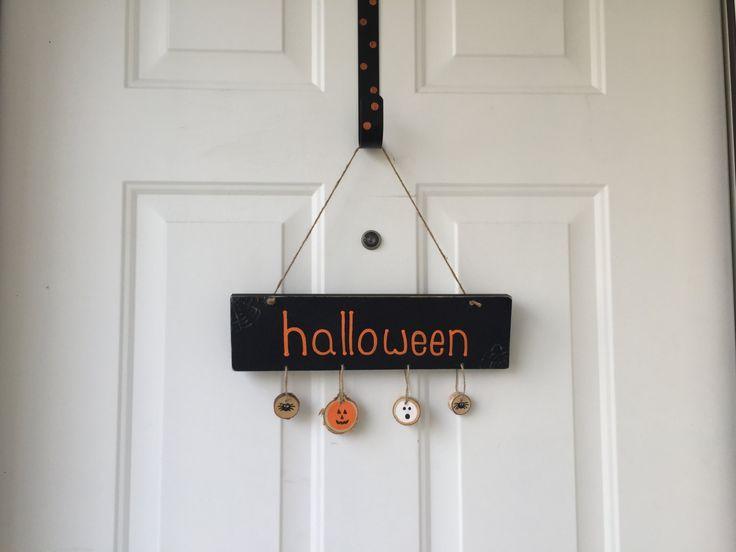 Halloween Rustic Hanging Wood Sign; Halloween Decor; Rustic Halloween Decor…