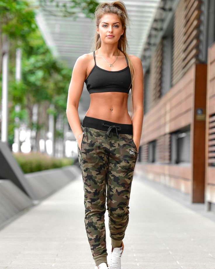 Womens Training Pants - Camo - Strong Liftwear