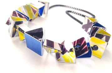 Neon Necklace / Anodised Aluminium by Dawn Meaden-Johnson