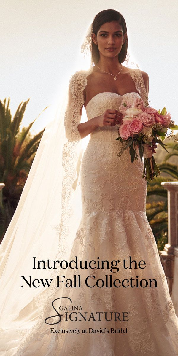 Brand new Galina Signature designer wedding dresses have arrived at David's Bridal. Come find the one for you!