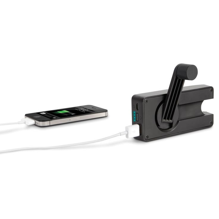 The Hand Crank Emergency Cell Phone Charger :)