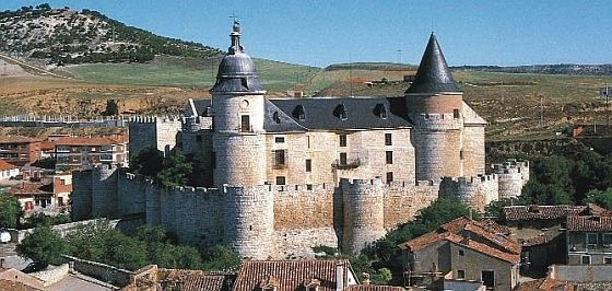 "CASTLES OF SPAIN - Castle of Simancas, Valladolid. dating from the islamic ""Al-Andalus"" period in the 9th century. In 934 it was the scene of a battle between the Christian troops under Ramiro II of León and the Moors of Abd-al-Rahman III. The Castle is now the Archivo General de Simancas,(National Archives of Spain). They occupy forty-six rooms, and are arranged in upwards of 80,000 bundles (33,000,000 documents). Permission to consult the documents at Simancas can be readily obtained."