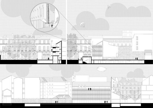 Tomas Ghisellini Architects Propose Shimmering Extension to the Italian Institute of Culture in Paris,Courtesy of Tomas Ghisellini Architects