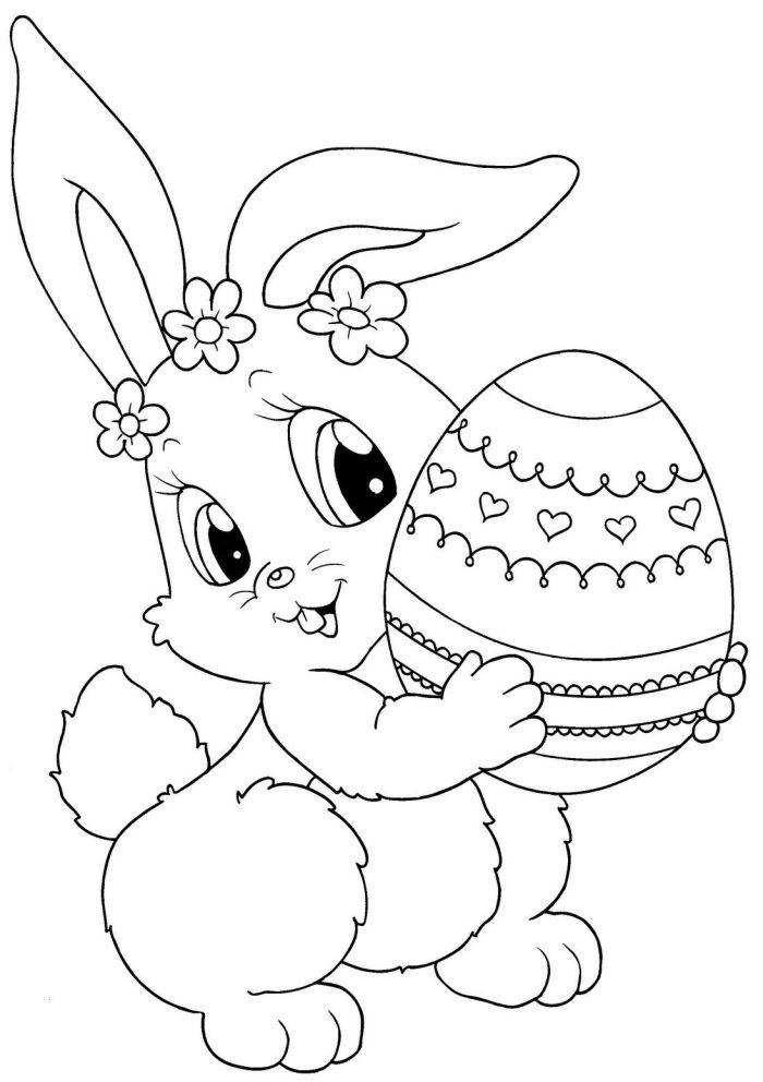1001 idees de coloriage paques facile a imprimer en 2020 lapin oeuf dessin pour ado