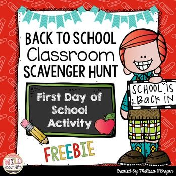 To help you prepare for the first day of school with your new kiddos, I'm sharing my Back to School Classroom Scavenger Hunt. I love this activity because it gives kids the chance to explore their new classroom. It's a fun, get em' up and moving, way to teach your brand new students where important stuff is located in the classroom.