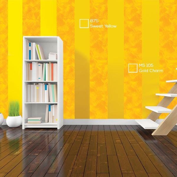 Warna netral pada furnitur menciptakan efek menenangkan dan membantu memodernisasi sebuah ruangan yang didominasi skema warna kuning.  #Yellow #Momento #Room #Modern #Relax #Paint #Colour #Wall #Home #ImajinasiTanpaKompromi #NipponPaintIndonesia