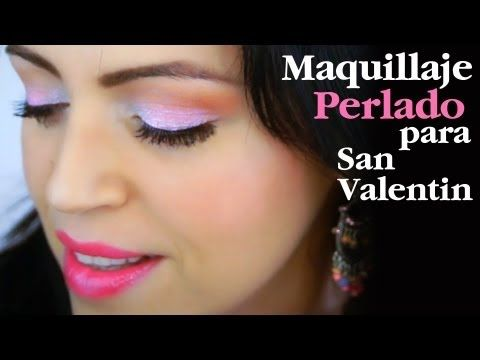 Maquillaje Sencillo Perlado Rosado y Marrón para el Diario - YouTube