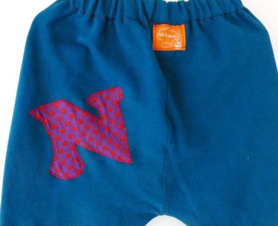 Toddler harem baggy pants sweatshirt pants loose by ElliandPaul