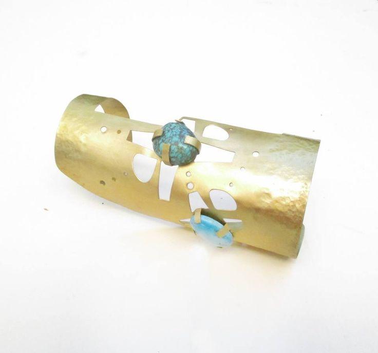 Colección Tropicalia. BIVET jewelry.  Latón, turquesas.