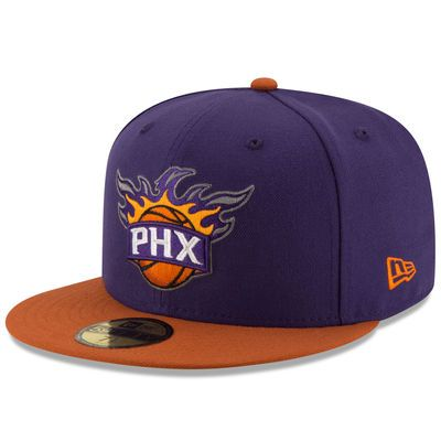 Men's New Era Purple/Orange Phoenix Suns Official Team Color 2Tone 59FIFTY Fitted Hat