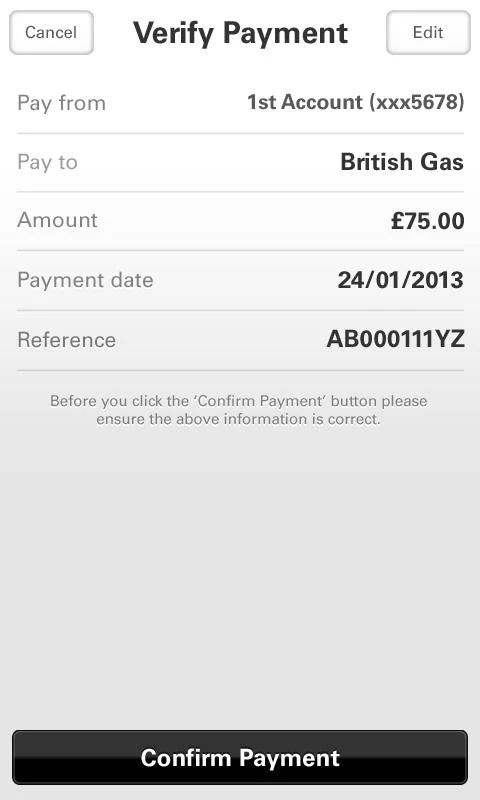 first direct Banking on the go - screenshot