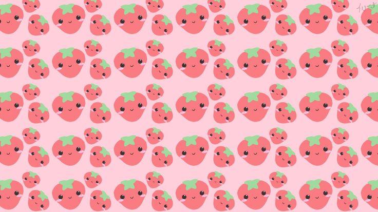 Strawberry Wallpapers فراولة خلفيات Kawaii Wallpaper Kawaii Background Wallpaper