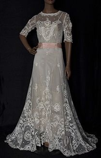 1905 Lace Tea Dress - front - exquisite design and attention to detail.  Totally feminine.