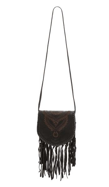Leather Fringe Festival Bag by Cleobella