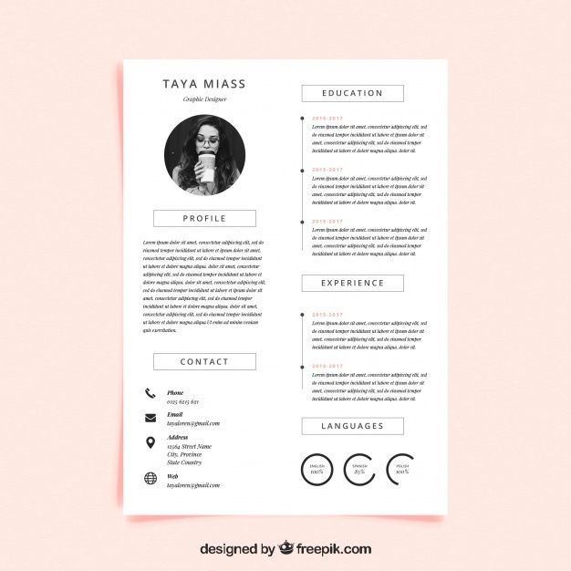 Curriculum Template With Minimalist Styl Free Vector Freepik Freevector Business Abs Curriculum Template Resume Design Free Minimalist Resume Template