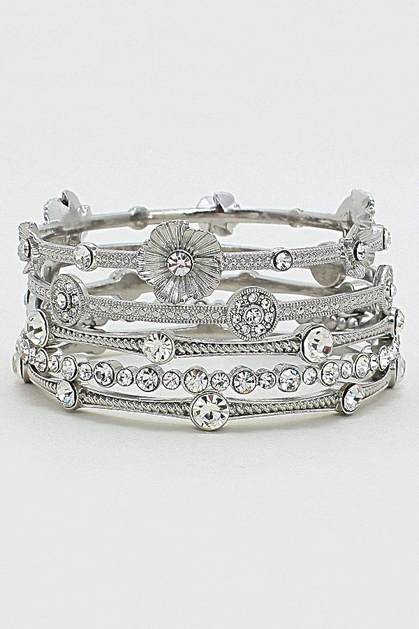 Crystal Abella Bracelet in Silver