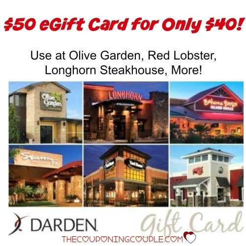 You aren't going to want to miss this! Perfect for Father's Day- either to go out or as a gift! Get a $50 Darden eGift Card for only $40! Red Lobster, Olive Garden, Longhorn Steakhouse, much more!  Click the link below to get all of the details ► http://www.thecouponingcouple.com/50-darden-egift-card-for-40-olive-garden-red-lobster-longhorn-steakhouse-more/  #Coupons #Couponing #CouponCommunity  Visit us at http://www.thecouponingcouple.com for more great posts!