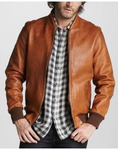 Tan Leather Jacket available on www.styloleather.com in High quality leather