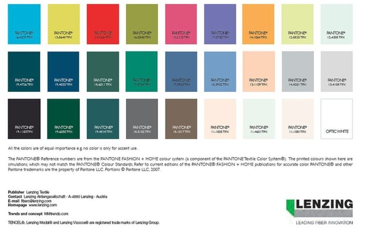 Lenzing SS2016 Colours