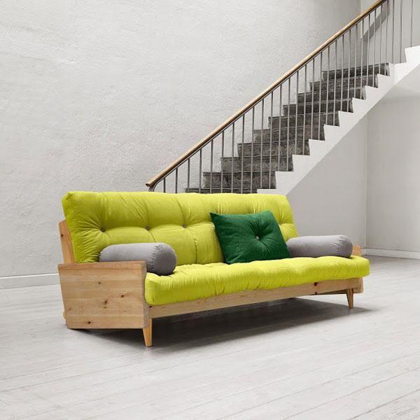 Sofá cama Indie verde pistacho