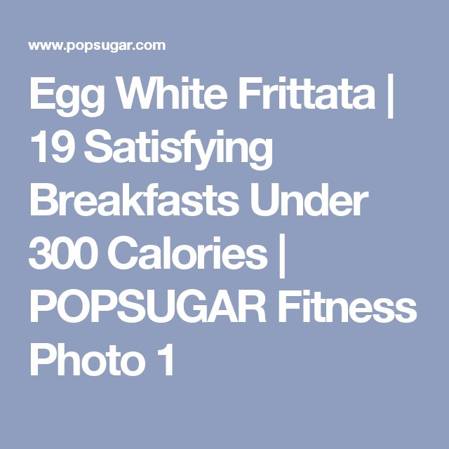 Egg White Frittata | 19 Satisfying Breakfasts Under 300 Calories | POPSUGAR Fitness Photo 1