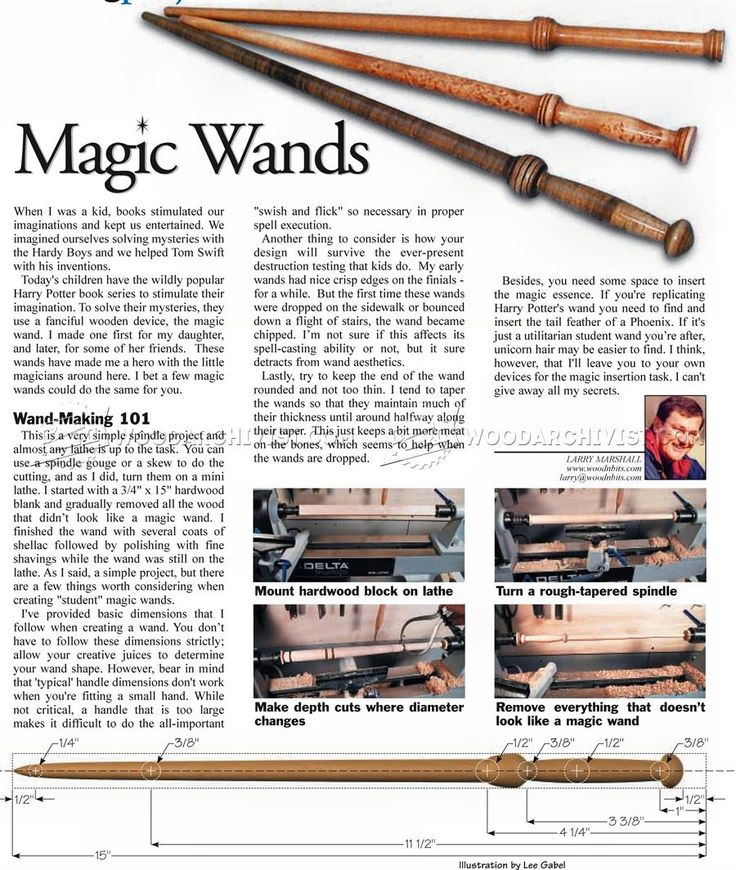 Woodturning Magic Wands - Wooden Toy Plans and Projects | WoodArchivist.com