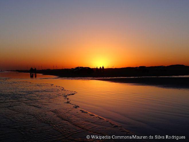 E ao ver o sol se pôr  Eu vou te matar de amor    #Praia #do #Cassino   #Pôr #do #sol