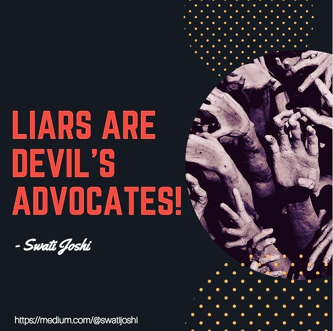 Good evening!  #liers #devil #advocate #human #values #instafun #instagood #daily #quotes #thoughtoftheday #photo #picturequotes #goodevening