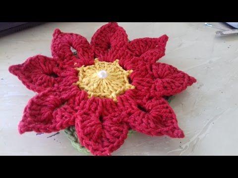 CORAÇÃO - COMPLETO do Tapete Gatinha com Coração em Crochê - Cristina Coelho Alves - YouTube