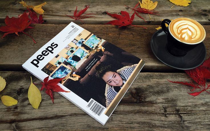 Peeps Magazine on a fall day. :) Nothing like a great read and a latte.